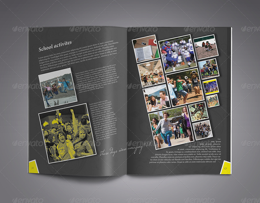 modern yearbook template by zheksha