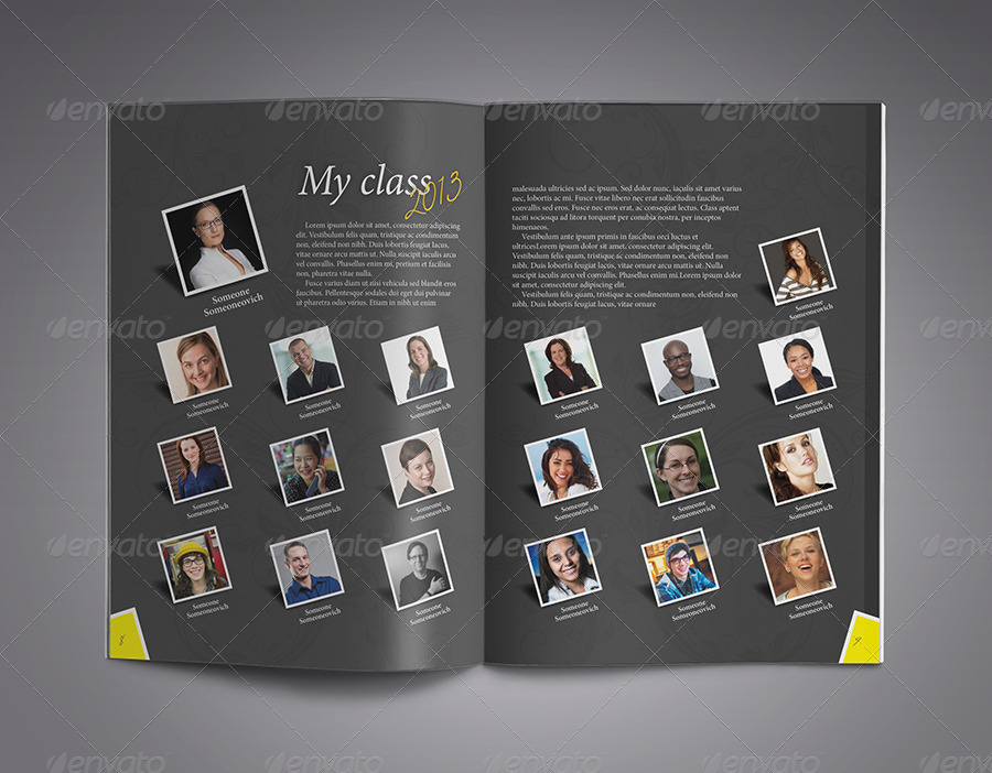 Modern yearbook template by zheksha graphicriver for Yearbook powerpoint template