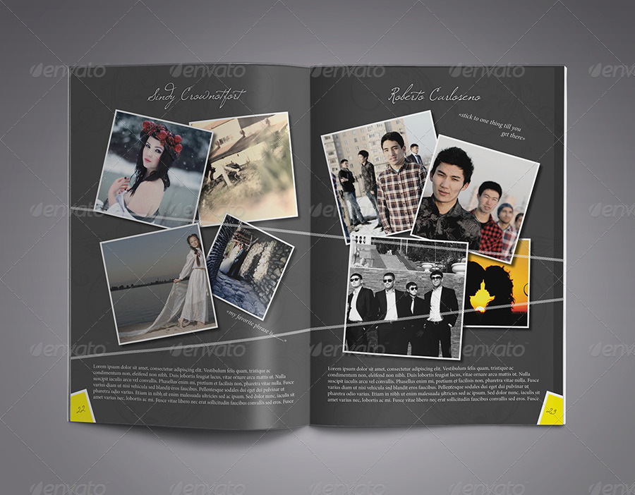 Modern yearbook template by zheksha graphicriver for Yearbook template powerpoint