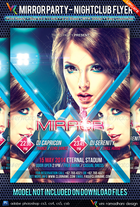 Mirror Party NightClub Flyer - Clubs & Parties Events