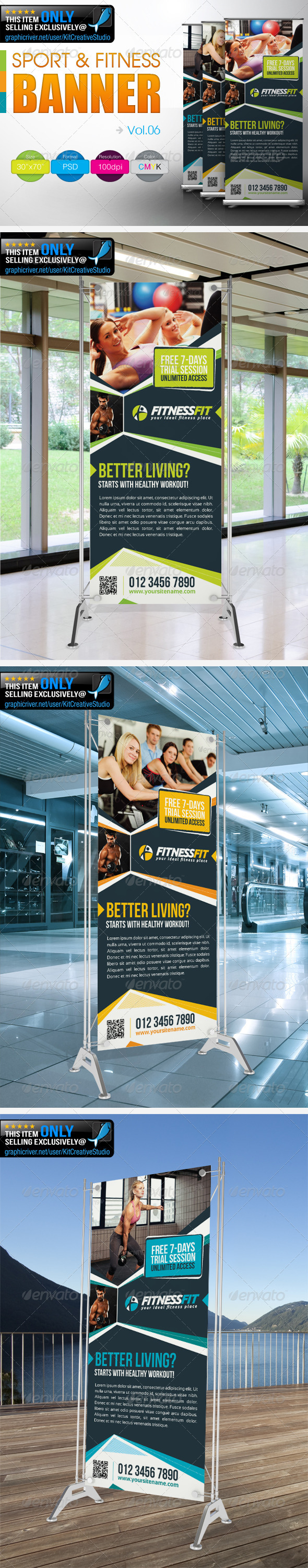 Fitness Banner Vol.6 - Signage Print Templates