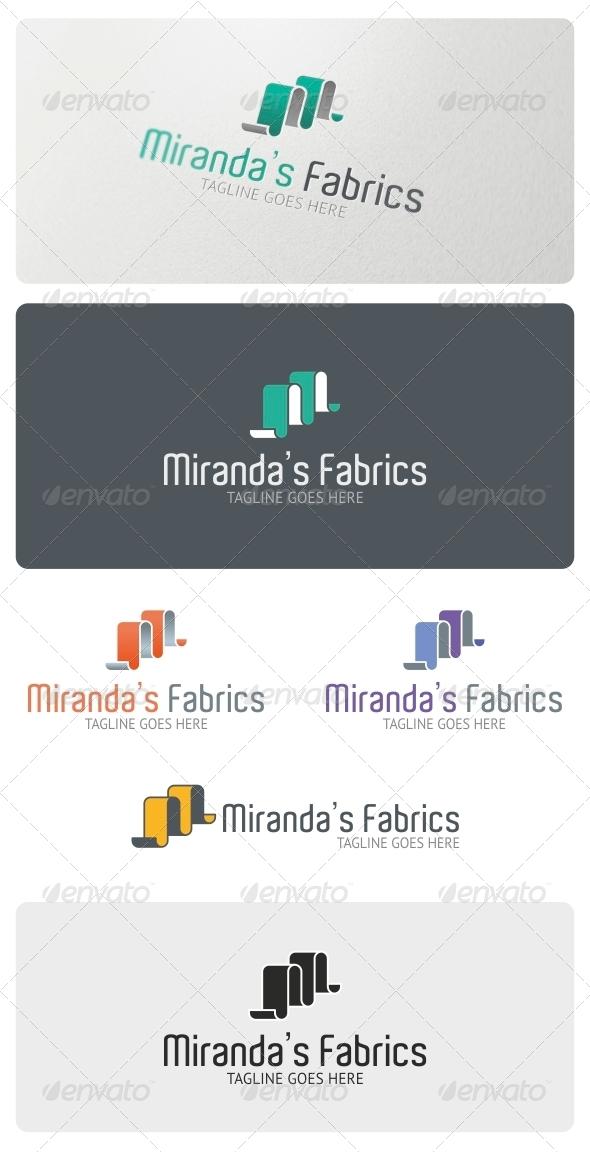 Miranda's Fabrics Logo Template - Vector Abstract