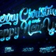 Merry Christmas And Happy New Year 2020 Blue Loop Backgrounds 5in1 - VideoHive Item for Sale