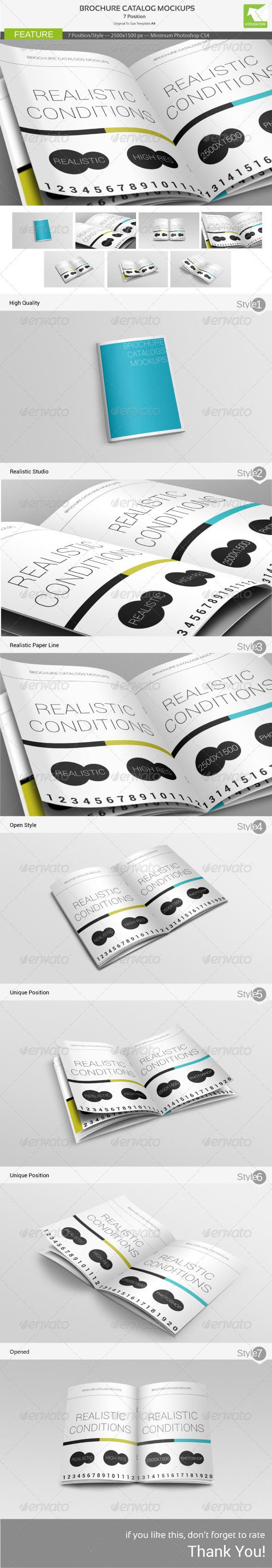 Brochure Catalog Mockups - Brochures Print
