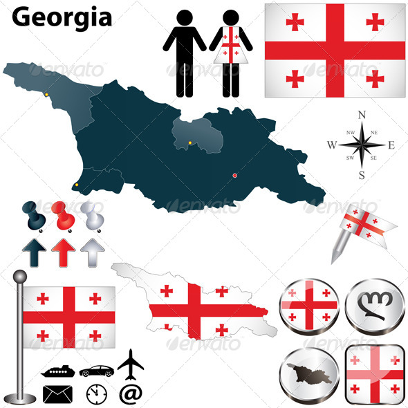 Map of Georgia - Travel Conceptual