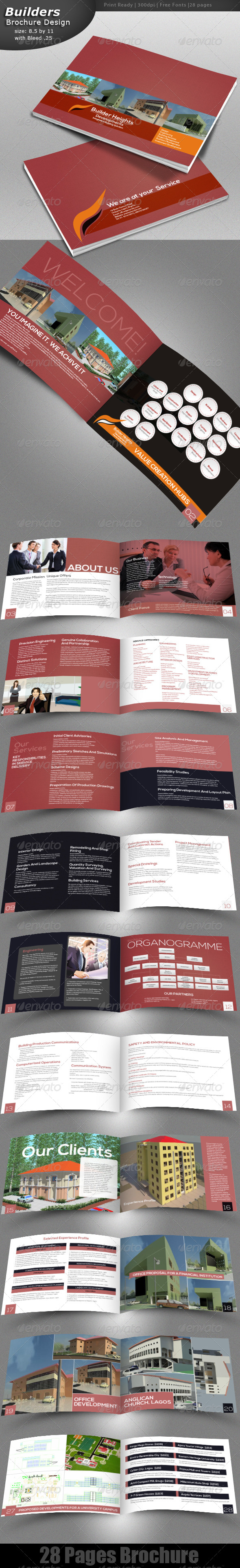 Construction Brochure - Brochures Print Templates