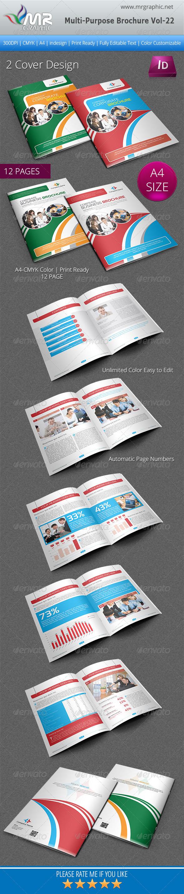 Multipurpose Business Brochure Template Vol-22 - Corporate Brochures