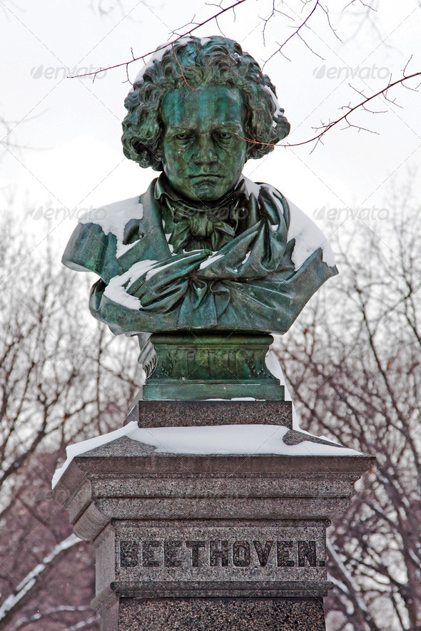 Statue of Ludwig van Beethoven - Stock Photo - Images