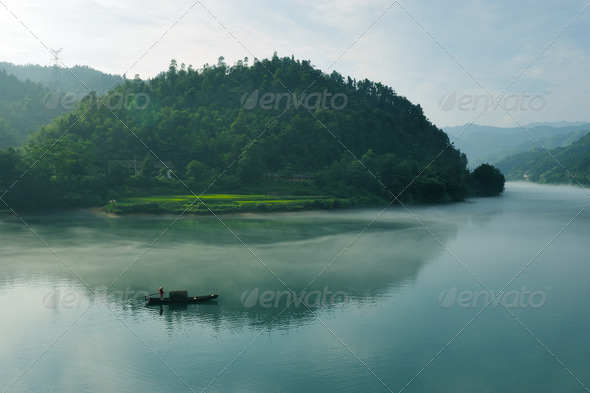 River landscape - Stock Photo - Images