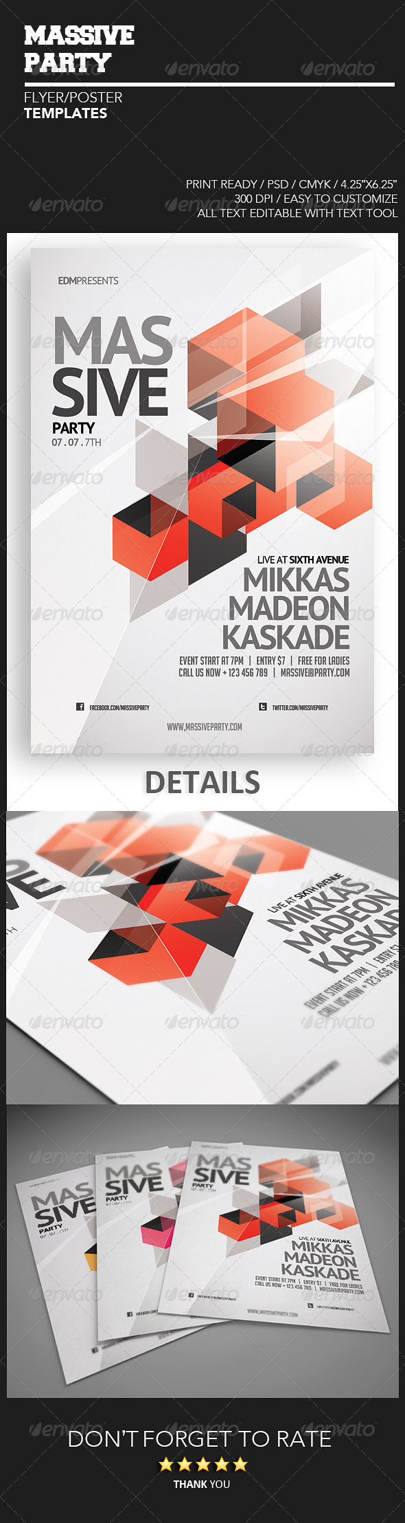 Massive Party Flyer - Events Flyers