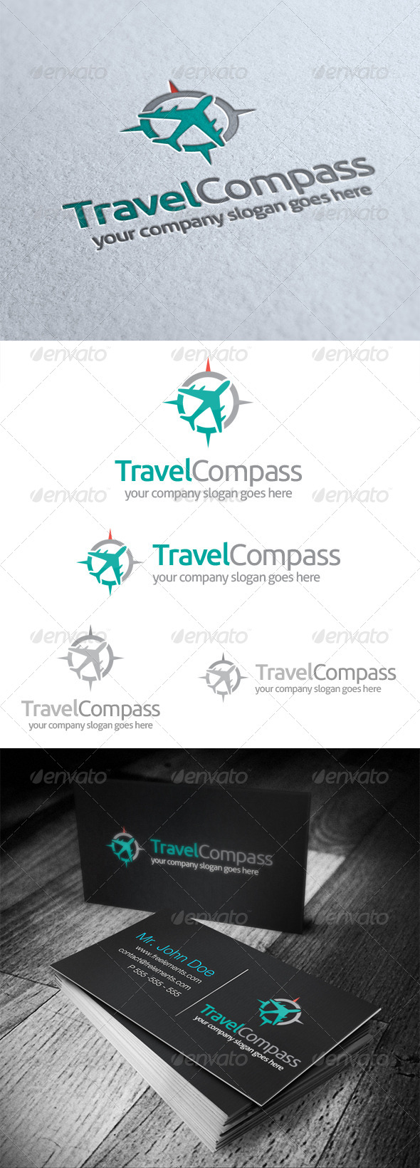 Travel Compass Logo - Objects Logo Templates
