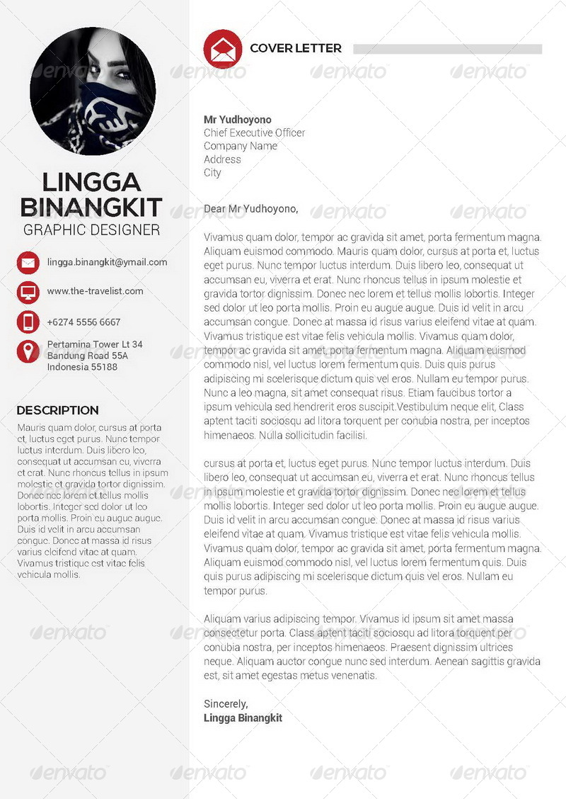 Sewon Clean Resume Template Volume 4 by binangkit | GraphicRiver