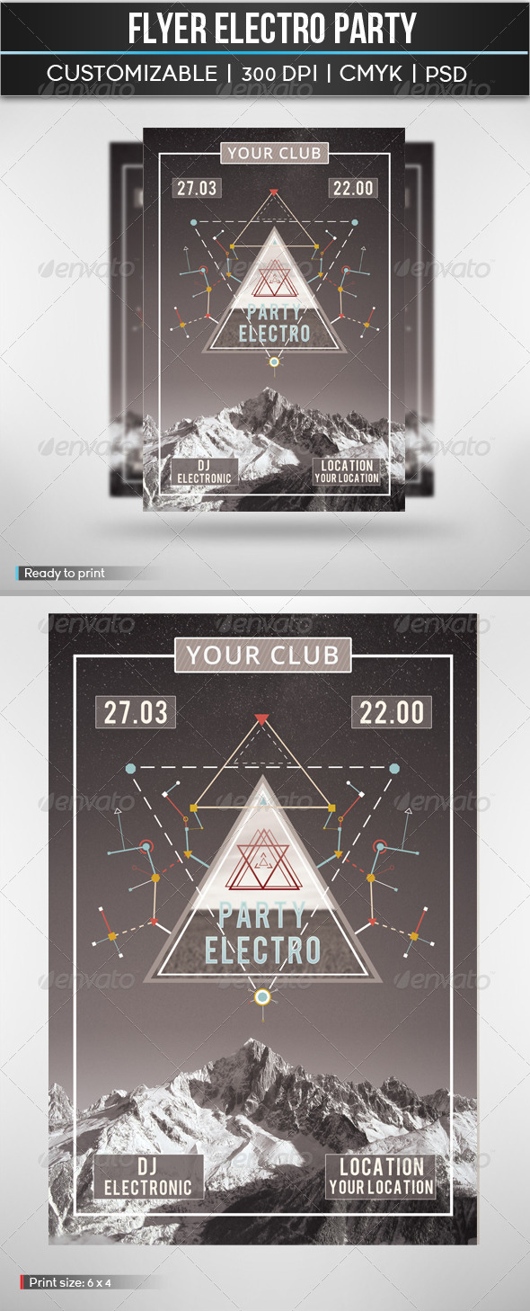 Flyer Electro Party - Clubs & Parties Events