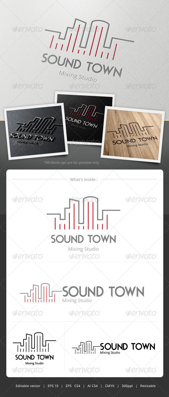 Sound Town Logo - Objects Logo Templates