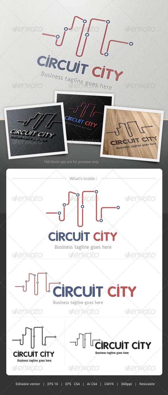 Curcuit City Logo - Objects Logo Templates