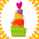 Vector Card Doodle Holiday Cake - GraphicRiver Item for Sale