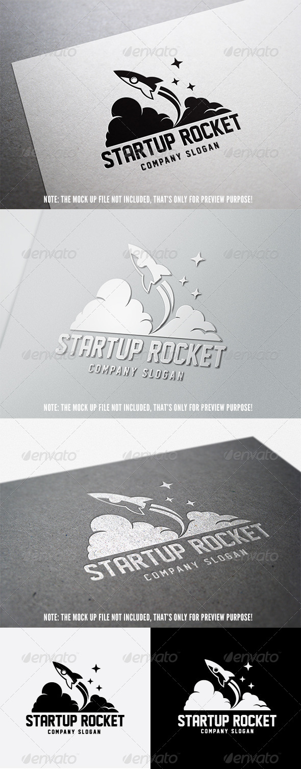Start Up Rocket Logo - 3d Abstract