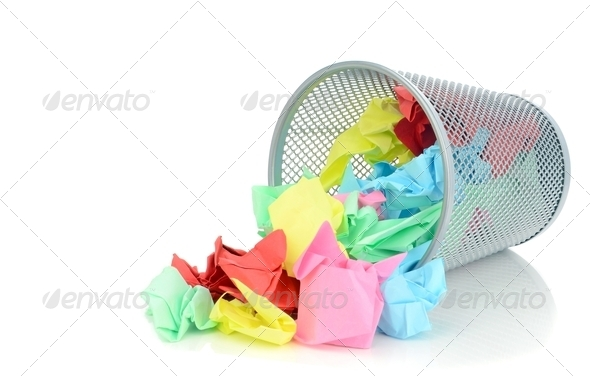 Waste Paper Bin - Stock Photo - Images
