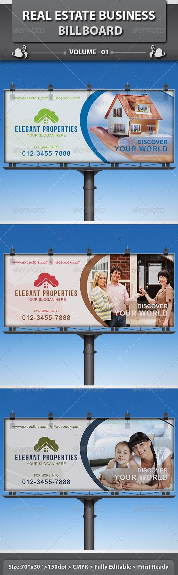 Real Estate Business Billboard | Volume 2 - Signage Print Templates