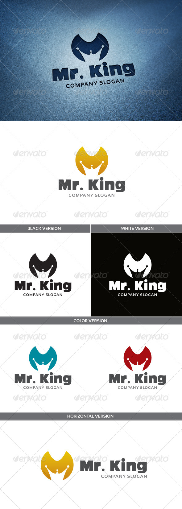 Mr. King Logo - Letters Logo Templates