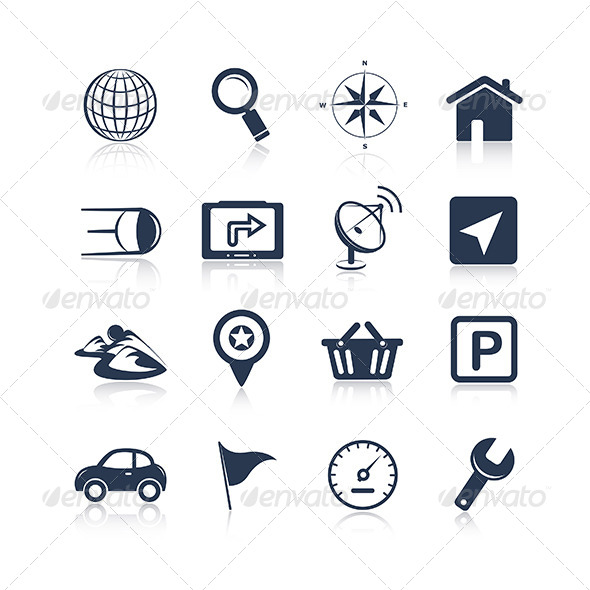 Navigation Apps Icons - Technology Conceptual