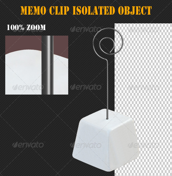 Memo Clip Isolated Object - Home & Office Isolated Objects