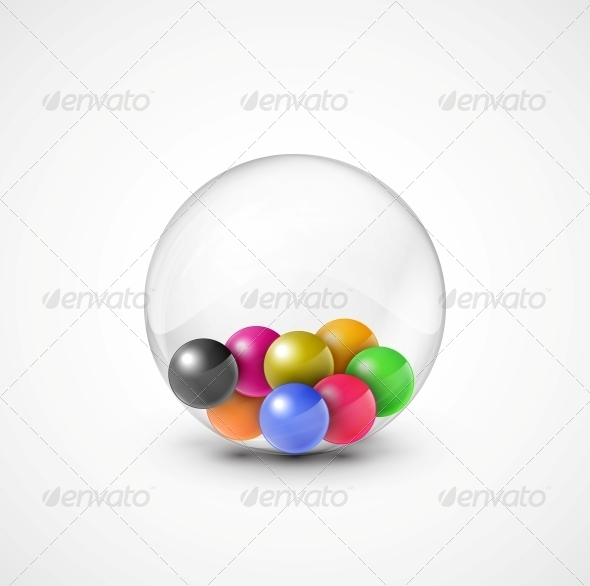 Colorful Balls - Web Elements Vectors