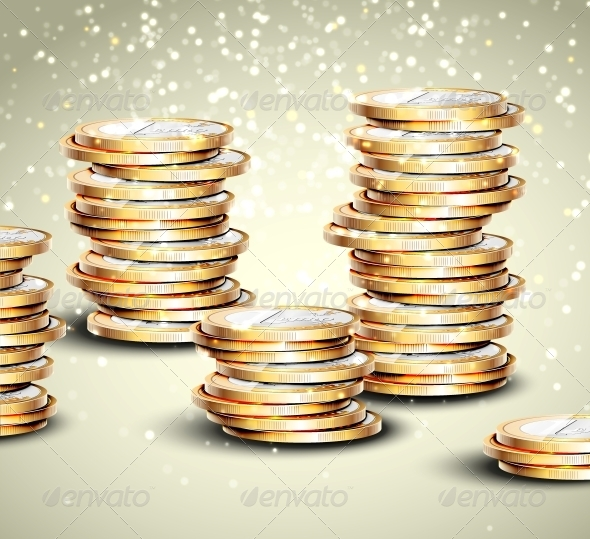 Background with Coins - Concepts Business