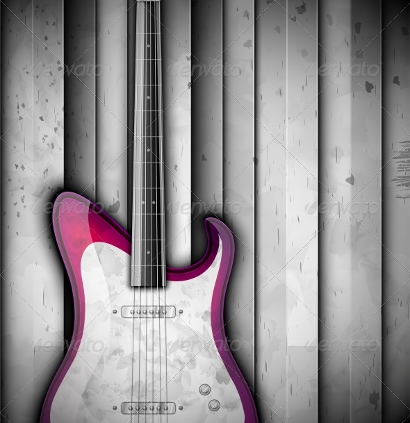 Background with Guitar - Backgrounds Decorative