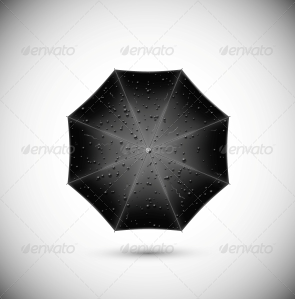 Black /umbrella - Man-made Objects Objects