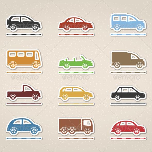 Cars - Web Elements Vectors