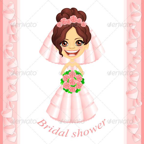 Pink Bridal Shower Invitation - Weddings Seasons/Holidays