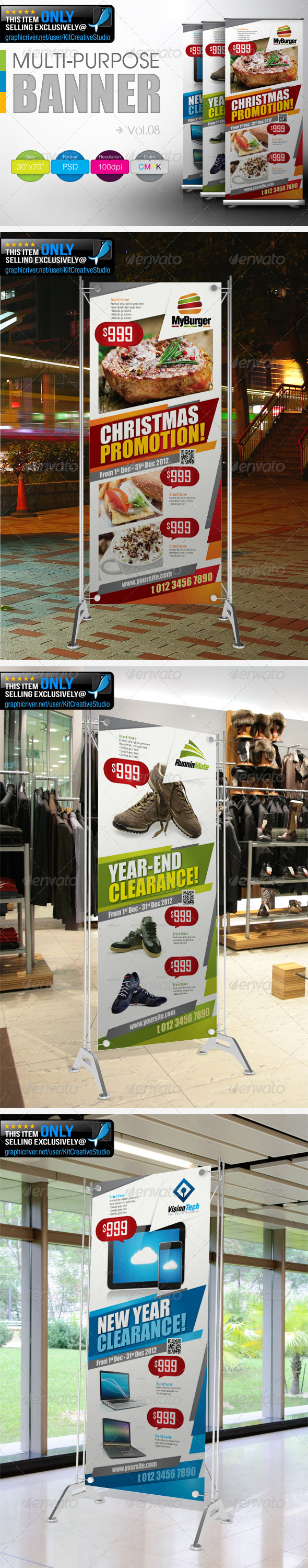 Multipurpose Promotional Banner Vol.8 - Signage Print Templates