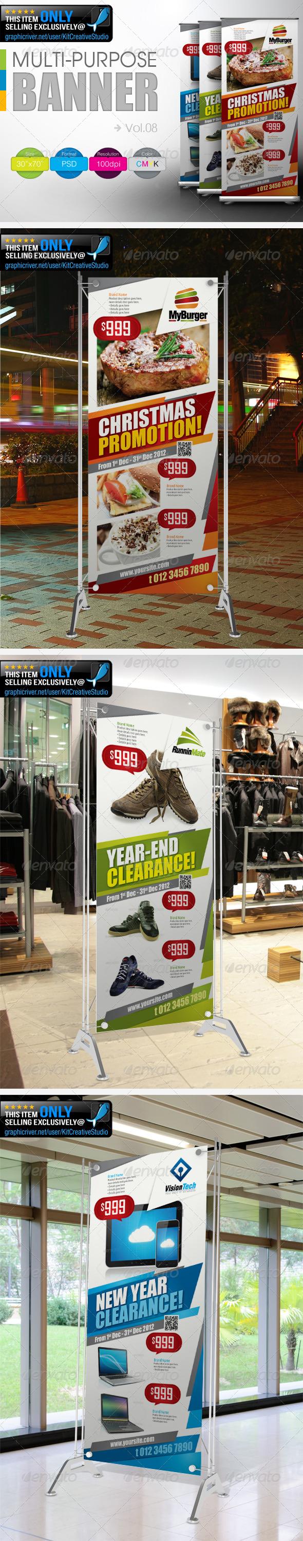 Multipurpose Promotional Banner Vol.8 - Signage Print Templates