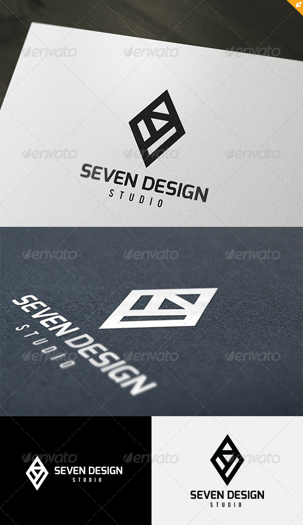 Seven Design Logo - Numbers Logo Templates