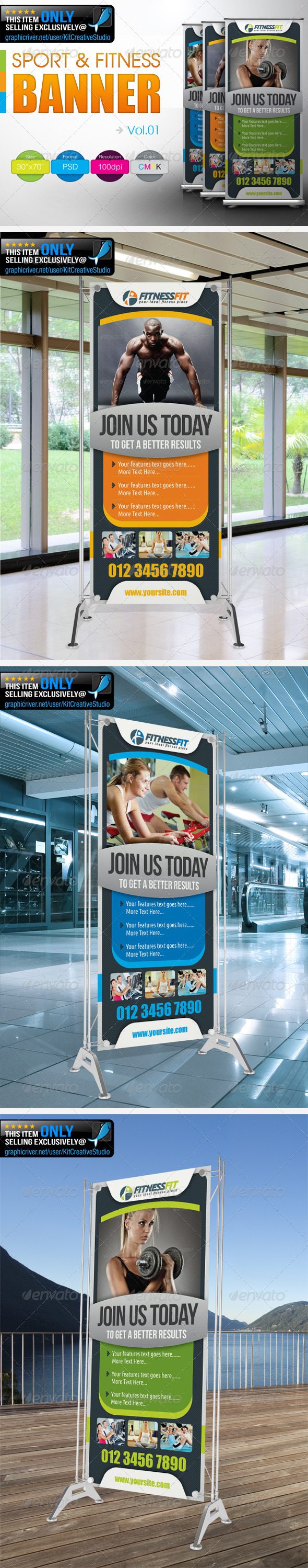 Fitness Banner - Signage Print Templates