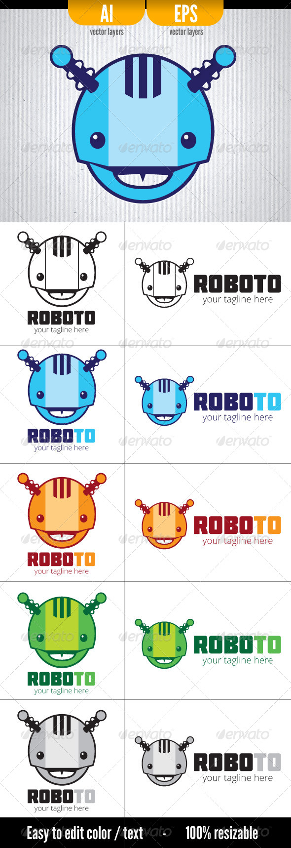 Roboto - Objects Logo Templates