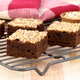 chocolate brownies with cracked peanuts on top - PhotoDune Item for Sale
