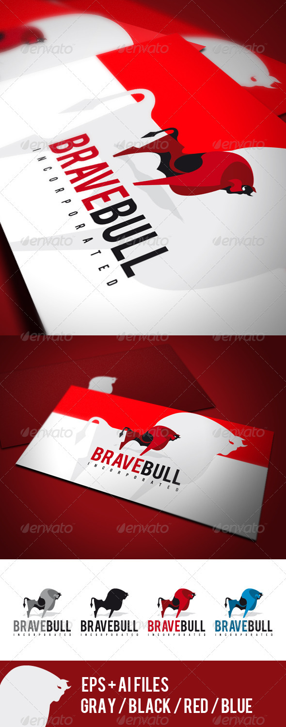 Brave Bull Logo - Animals Logo Templates