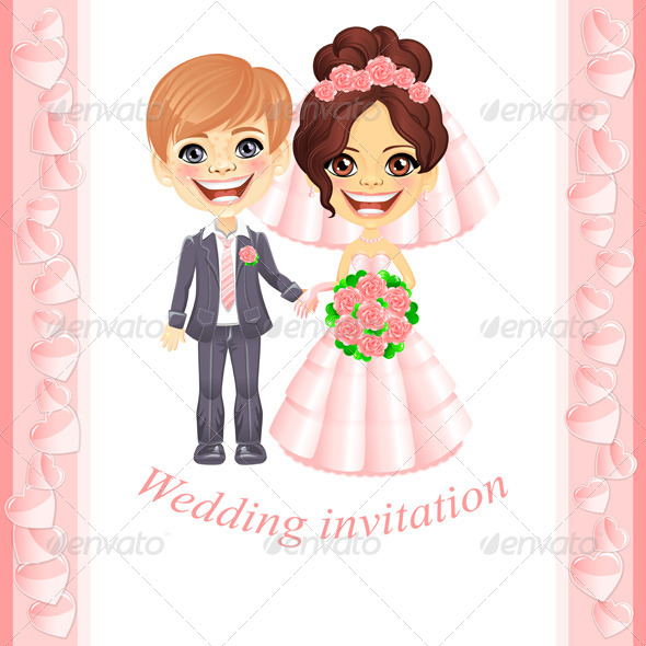 Pink Wedding Invitation - Birthdays Seasons/Holidays