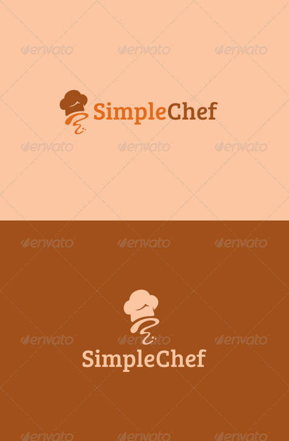 Simple Chef Logo - Food Logo Templates