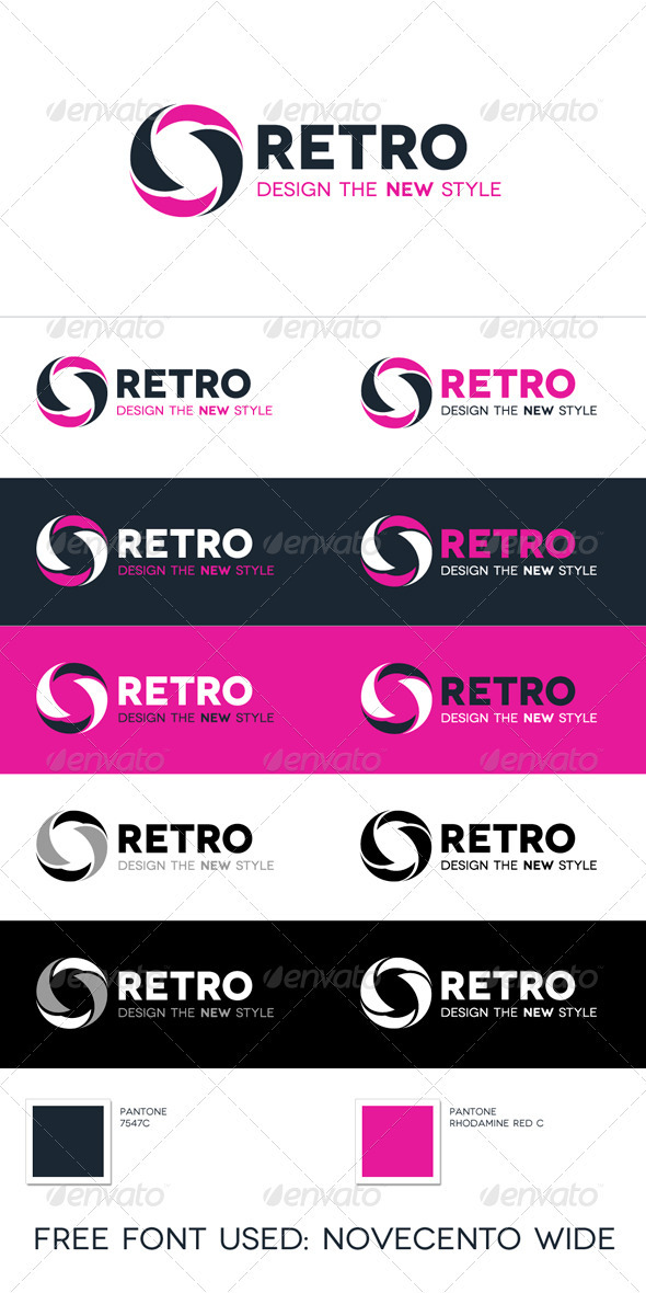 Retro Logo - Vector Abstract