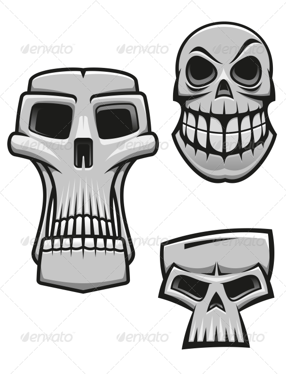 Monster and Zombie Skulls - Halloween Seasons/Holidays