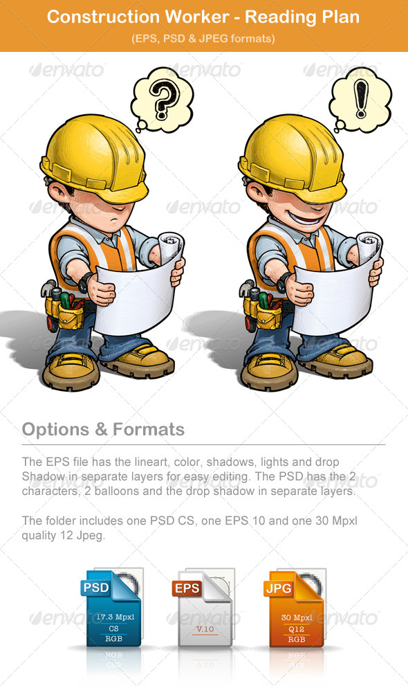 Construction Worker - Reading Plan - People Characters