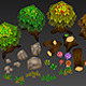 Low Poly Forest Set - 3DOcean Item for Sale