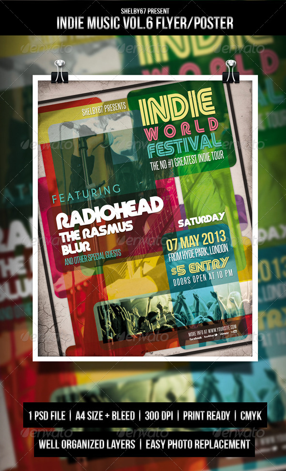 Indie Music Flyer / Poster Vol.6 - Events Flyers