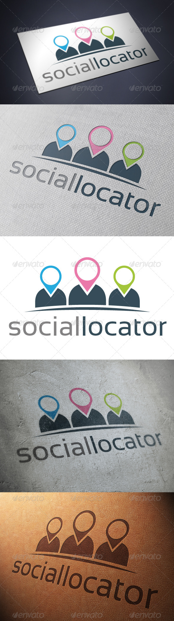 Social Location Logo Template - Humans Logo Templates