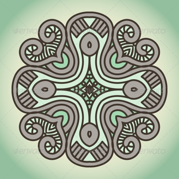 Vector Round Decorative Design Element - Patterns Decorative