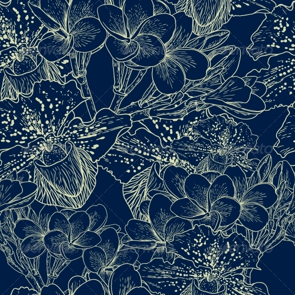 Seamless Floral Pattern with Flowers - Flowers & Plants Nature