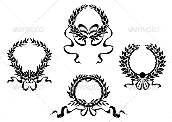 Royal Laurel Wreaths - Decorative Symbols Decorative